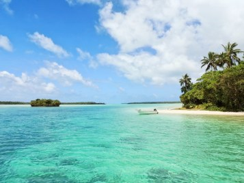Tiny Island Paradise with boat